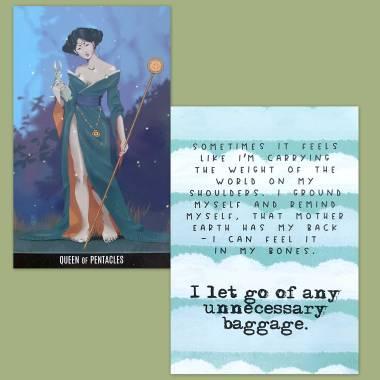 Vox Arcana Tarot and Less Anxiety Affirmation Cards