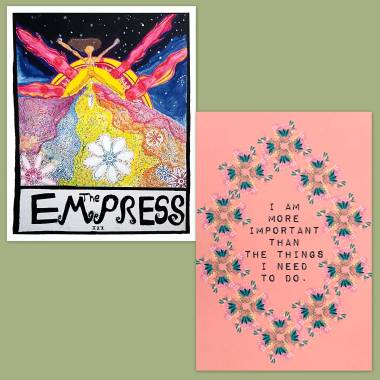 Family Tarot and Less Anxiety Affirmation Cards