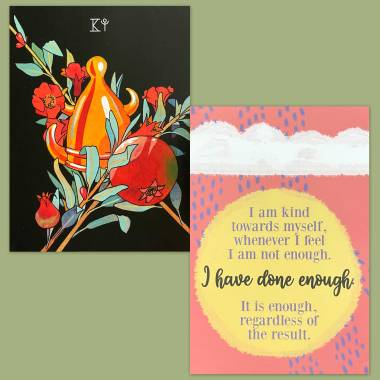 Botanica Tarot and Less Anxiety Affirmation Cards