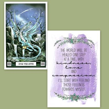Dragon Tarot and Less Anxiety Affirmation Cards