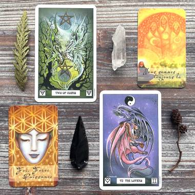 She Whispers Her Truth Oracle and Dragon Tarot