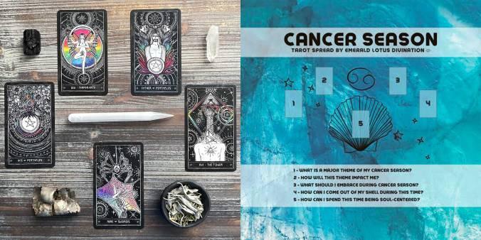 Cancer Season Tarot Reading - Cosmic Visions Tarot