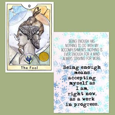 The New Chapter Tarot and Less Anxiety Affirmation Cards