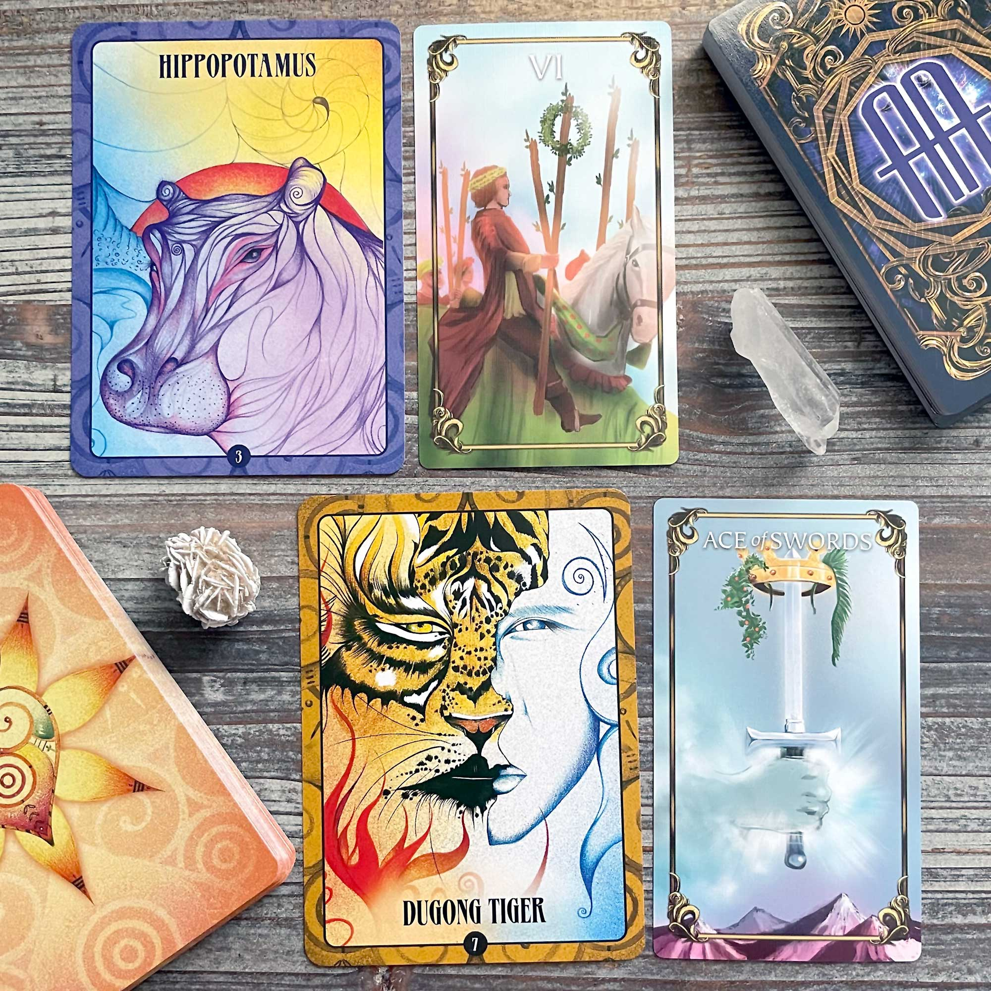 Ancient Animal Wisdom Cards and The Master Tarot