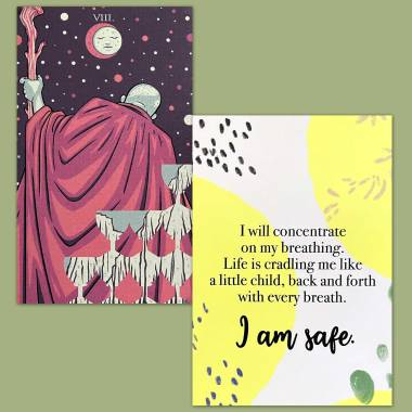 The Prismatic Tarot and Less Anxiety Affirmation Cards
