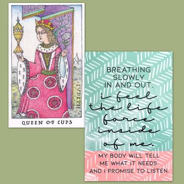 Nigel Jackson's Rose Tarot and Less Anxiety Affirmation Cards