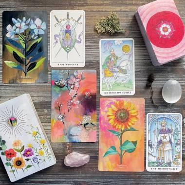 Flower Medicine Oracle and Nigel Jackson's Rose Tarot