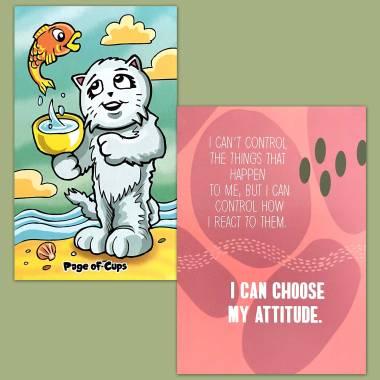 Kiddy Katz Tarot and Less Anxiety Affirmation Cards