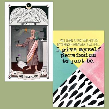 Auset Gypsy Tarot and Less Anxiety Affirmation Cards