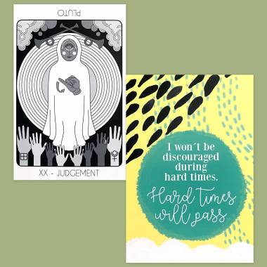 The Fox Tarot Pips Edition and Less Anxiety Affirmation Cards