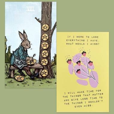 Northern Animal Tarot and Less Anxiety Affirmation Cards