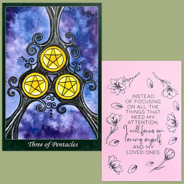 Tarot of the Trees 10th Anniversary Edition and Less Anxiety Affirmation Cards