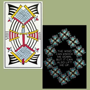 Tarot de Marseille Jean Dodal and Less Anxiety Affirmation Cards