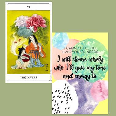 Chinese Tarot and Less Anxiety Affirmation Cards