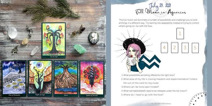 Full Moon in Aquarius Tarot Reading with the Tarot of Trees 10th Anniversary Edition