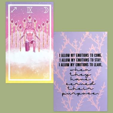 The Pri8m Tarot and Less Anxiety Affirmation Cards