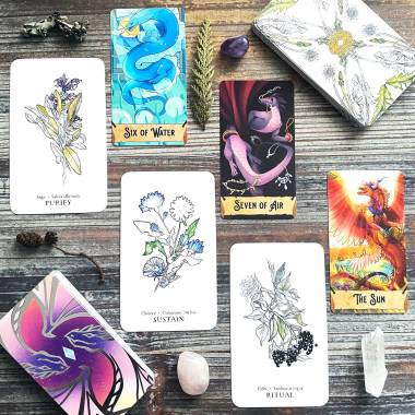 Hedgewitch Botanical Oracle and Radiant Scales Tarot