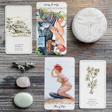Healing Flower Color Cards and Hilda Tarot