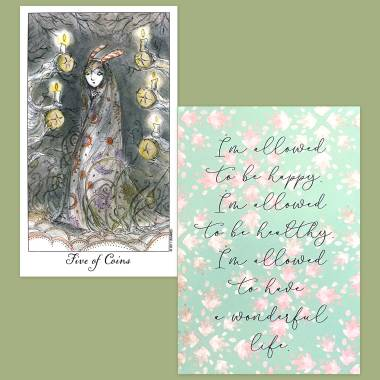 Joie de Vivre Tarot and Less Anxiety Affirmation Cards