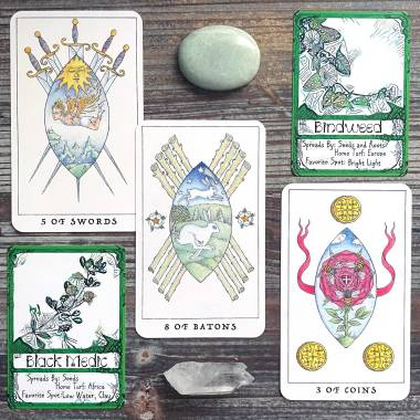 Unruly Game Cards and Nigel Jackson's Rose Tarot