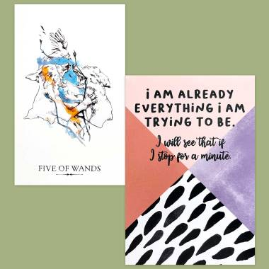 Linestrider Tarot and Less Anxiety Affirmation Cards