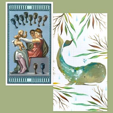 Michelangelo Tarot and How to Be a Wildflower Deck