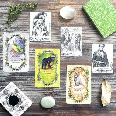 Animaux Guides and Vintage Book Illustrations Tarot