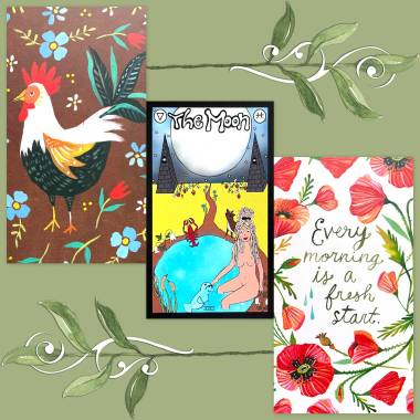 The Strawberry Tarot and How to Be a Wildflower Deck