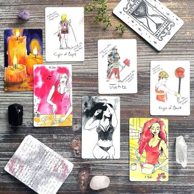 My Quality Time Self-Care Activity Cards and Broke B Tarot