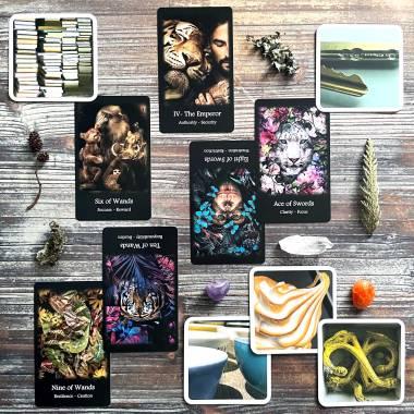 Ouisi Game Cards and Wild Spirit Tarot