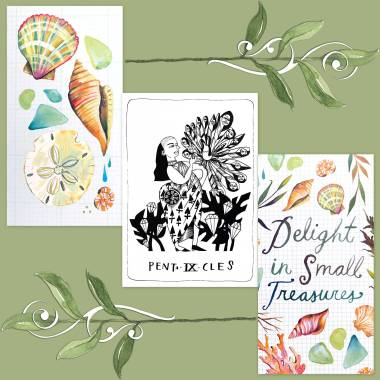 Many Queens Tarot and How to Be a Wildflower Deck