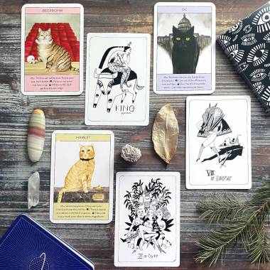 Cat Gurus Oracle and Many Queens Tarot