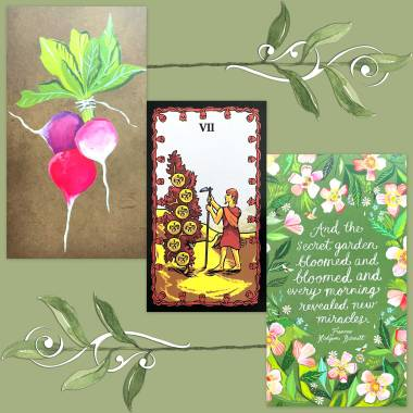 Tarot of the Nile and How to Be a Wildflower Deck