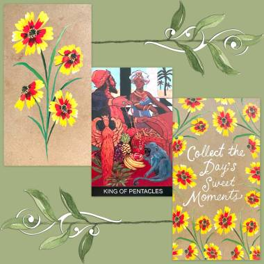 Tarot de St Croix Borderless Edition and How to Be a Wildflower Deck