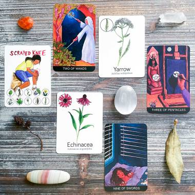 Tarot de St Croix Borderless Edition and Wildcraft! Herbal Adventure Game Cards