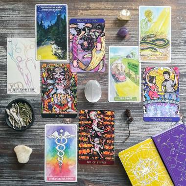 Really F*ing Obvious Divination Cards and the Sacred Bridges Tarot