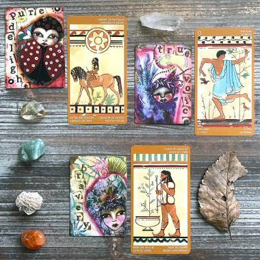 Journey to the Heart Oracle and Etruscan Tarot