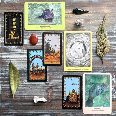 Animal Love Oracle Cards and Tarot of the Nile