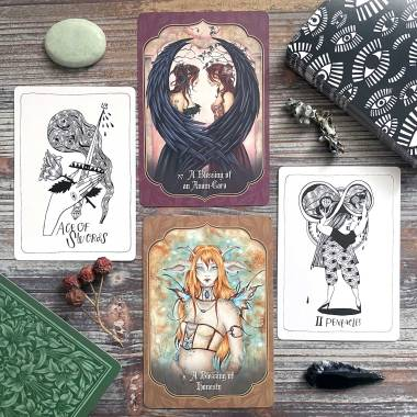 Faery Blessing Cards and Many Queens Tarot