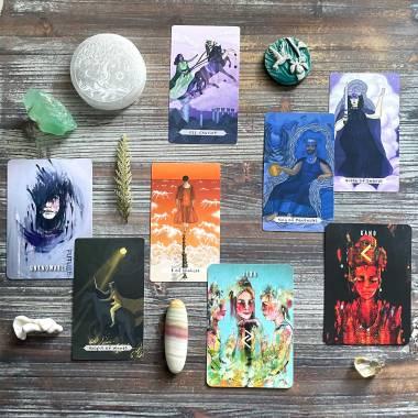 Painted Runes Deck and Chakra Healing Tarot
