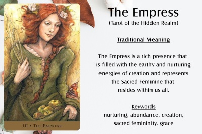 The Empress in the Tarot of the Hidden Realm