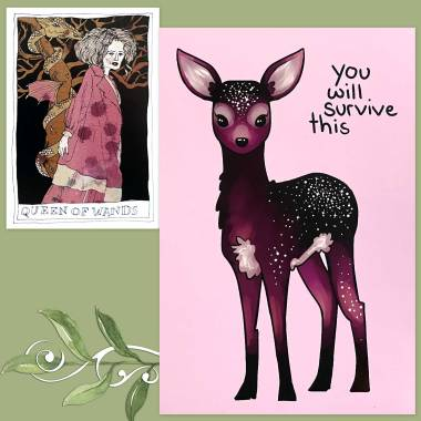 Black Lily Tarot and Thera-Pets Emotional Support Animal Cards