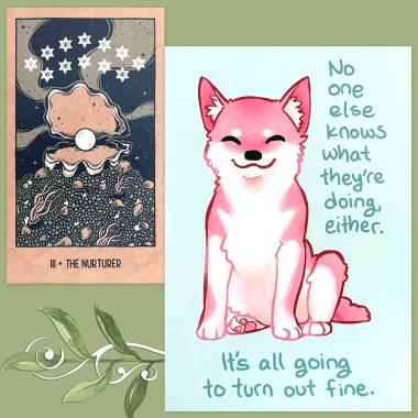 Transient Light Tarot and Thera-Pets Emotional Support Animal Cards