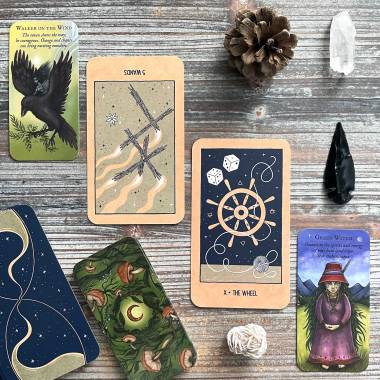 Forest Fae Messages Oracle and Transient Light Tarot