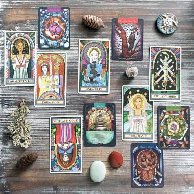 The Wandering Star Tarot, Illustrated Beastiary Cards, and Illustrated Herbiary Cards