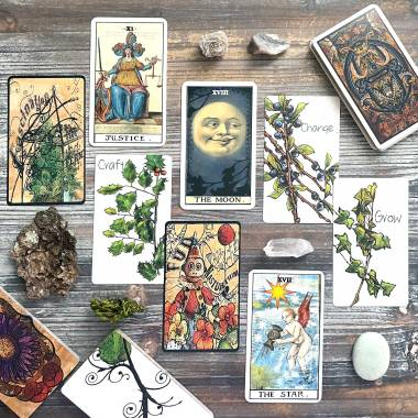 Smoke & Roses Oracle, Roots Oracle, Serpent and the Peacock Tarot