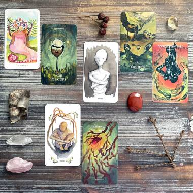 Roots & Wings Oracle and Cerise Tarot