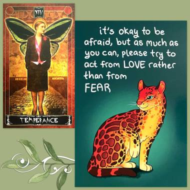 Cult of Weimar Tarot and TheraPets Emotional Support Animal Cards