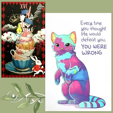 Alice in Tarotland and Thera-Pets Emotional Support Animal Cards