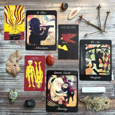Marcel's Oracle and Journey of the Bearded Tarot